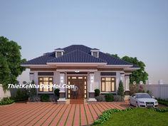 Nha 3 gian hien dai dep 2019 - Công ty thiết kế xây dựng Nhà Đẹp Mới - Medium Modern Bungalow House, Ideal Home, Salt Lake City, House Plans, Villa, Exterior, House Design, Architecture, London