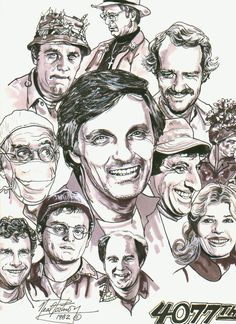 From the artist: Here's an illustration I did a while back of the cast of the hit TV show MASH 4077th.    This artist did a super job capturing each characters spirit.  This television program is the all time greatest on TV ever