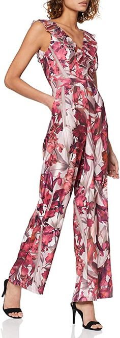 Bekleidung, Damen, Jumpsuits Floral Jumpsuit, Overall, Mistress, No Frills, Jumpsuits, Dresses, Fashion, Templates, Photo Storage