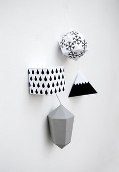minieco paper decorations by minieco // winter edition