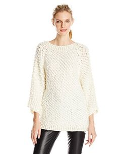 7e9cc06319 DKNYC Womens Loop Stitch Pullover Ecru Small -- Details can be found by  clicking on