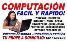 CLASES DE COMPUTACIÓN A DOMICILIO Y OFICINA $100  #Clases, #Computacion, #Domicilio, #Oficina