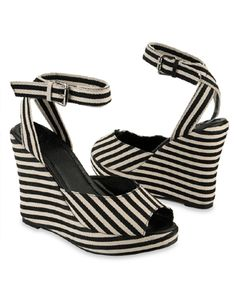 Striped Platform Wedges  $24.80