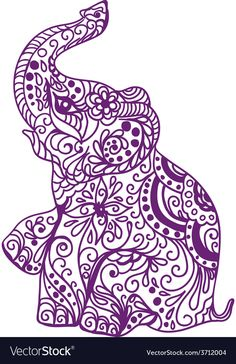 Ideas Tattoo Elephant Color Etsy For 2019 Elephant Colour, Elephant Love, Indian Elephant Art, Elephant Tattoo Design, Elephant Tattoos, Zentangle Elephant, Elefante Tattoo, Elefante Hindu, Elephant Silhouette