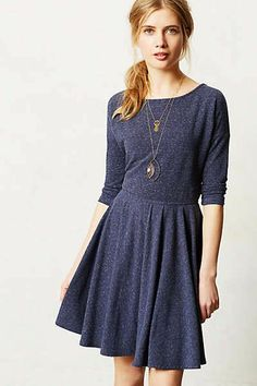 Cute navy dress, gold necklaces?