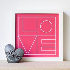 Pink Love Print Romantic Print Romantic Gift by DazzlingDandelion