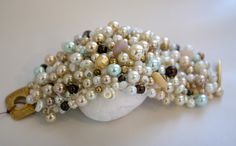 289e02367 Pearl Bracelet. Woven. Local Cape Cod artist, Deb Malin of Goodie Bag.