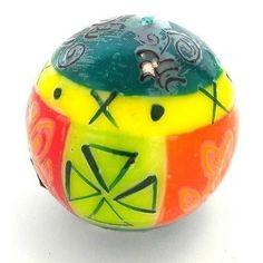 Hand-Painted Ball Candle - Matuko Design - Nobunto #sustainabledesign