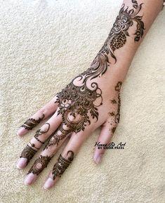 Pretty Henna Designs, Modern Henna Designs, Henna Art Designs, Mehndi Designs For Girls, Mehndi Designs For Beginners, Mehndi Designs For Fingers, Mehndi Design Images, Best Mehndi Designs, Dulhan Mehndi Designs