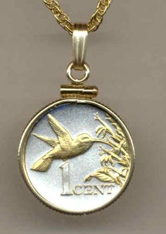 awesome Gorgeous 2-Toned Gold on Silver  Trinidad & Tobago Hummingbird ,  Coin NecklacesGorgeous 2-Toned Gold on Silver  Trinidad & Tobago Hummingbird ,  Coin Necklaces Check more at http://christmasshortstory.com/product/gorgeous-2-toned-gold-on-silver-trinidad-tobago-hummingbird-coin-necklaces-2/