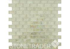Hammered Pearl Oyster Brick Mosaic