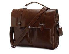 Leather Business Bag Laptop Bag Leather Messenger Bag