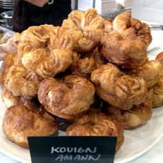 An abundance of fresh croissant-like Kouign Amann pastries at b. patisserie in Pacific Heights, SF. Kouign Amann, Pacific Heights, Breakfast Pastries, Croissant, Abundance, Muffin, Fresh, Meat, Chicken