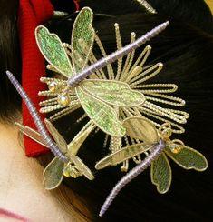 Fleurs Kanzashi, Japanese Hairstyle, Hair Ornaments, Flower Making, Yahoo, How To Apply, Seasons, Fabric, Geisha