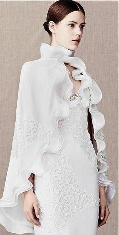 Alexander McQueen Bridal Cloak