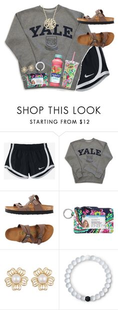 """Babysitting 3 kids"" by livnewell ❤ liked on Polyvore featuring NIKE, Birkenstock, Vera Bradley, Mangosteen and Lokai"