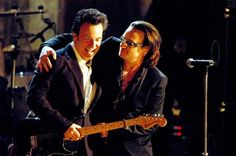 "U2's Bono inducted Springsteen into the Rock N'Roll Hall Of Fame in 1999, saying of Bruce: ""Credibility - you couldn't have more, unless you were dead."""