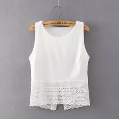 very cute top--I like its basic simplicity with just the lace/eyelet trip on the bottom.