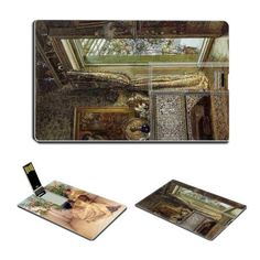 Courtship Drawing Room Holland Park by Lawrence Alma-Tadema Oil Painting USB Flash Drive - www.dealok.com