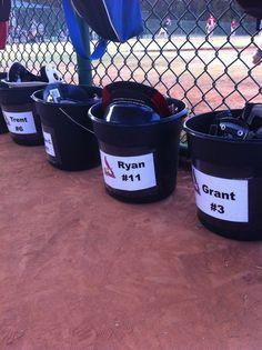 Great idea for keeping baseball team organized!
