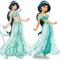 Принцесса Жасмин в аниме стиле