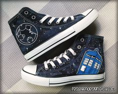 Your Name in Gallifreyan 'Custom Converse' /  by FeslegenDesign, $75.00