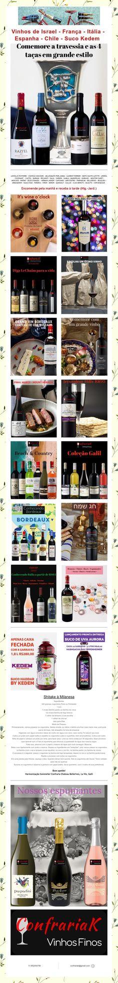 Vinhos de Israel - França - Itália - Espanha - Chile - Suco Kedem Mouton Cadet, Laurent Perrier, Israel, Chile, 1, Juice, Wine Pairings, Spain, Italia