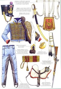 Hussars, ca. before the new shakos became the fashion. They should have kept these shakos. First French Empire, Soldier Costume, British Army Uniform, Military Costumes, Battle Of Waterloo, French Army, Napoleonic Wars, Toy Soldiers, Vikings