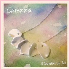 necklace with porcelain leaves Carezza by IlGiardinodiJull on Etsy