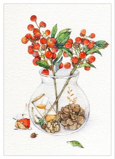 水彩,手绘,ऴ……_来自Queena-wang的图片分享-堆糖