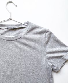 Envious grey tee w/roll up sleeves