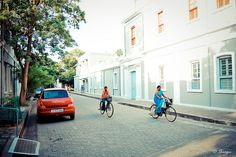 Pondichery street scene - 2 by thyaagoo, via Flickr Union Territory, Bay Of Bengal, French Colonial, Tree Line, Indian Paintings, French Quarter, India Travel, Seaside, Street View