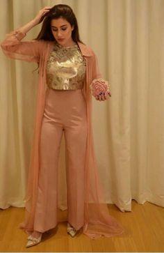 Velvet dress designs - Crop Top And Bottom Make An Idle Fusion Wear Threads – Velvet dress designs Designer Party Wear Dresses, Kurti Designs Party Wear, Indian Designer Outfits, Indian Outfits, Indian Fashion Trends, Indian Wedding Outfits, Fashion Ideas, Indian Gowns Dresses, Pakistani Dresses
