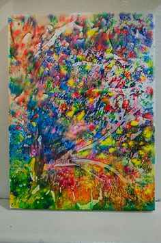 more melted crayon art ideas