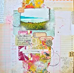 Studio Shirel is a french blog that has amazing layouts..messy, loose and delicious!