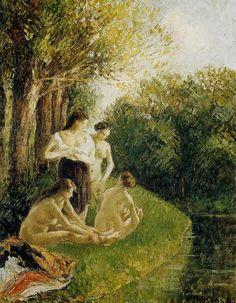 Camille Pissarro(1830ー1903)「Les baigneuses 2」