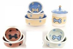 Brite Bones Dog Treat Jar / Bowls
