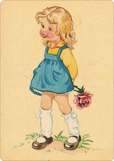 Marjolijntje heeft een rode roos voor jou geplukt.