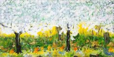 Spring ( Kirschblüte) Öl auf Leinwand ( Originalbild) 120 x 60 cm | KunstiX