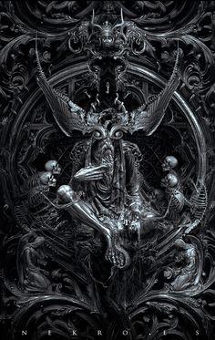 ArtStation - Three circles of hell ( 3 covers ), Nekro .