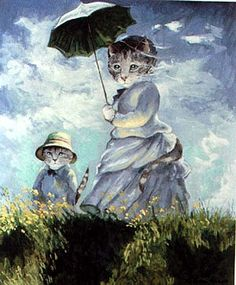 "Claude Monet ""Woman with a Parasol - Madame Monet and Her Son, 1875"" SUSAN HERBERT"