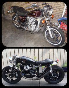 Voor en na , 1980 Honda CX500C
