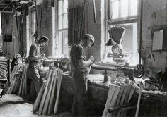 Louisville Slugger bat factory, Louisville, Ky., 1932