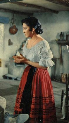 Mexican Fashion, Mexican Outfit, Mexican Dresses, Mexican Style, Billy The Kid, Traditional Mexican Dress, Mexican Actress, 1950s Outfits, Latin Women