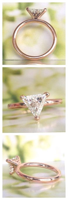 Rose Gold Engagement Ring, Would be prettier with yellow gold