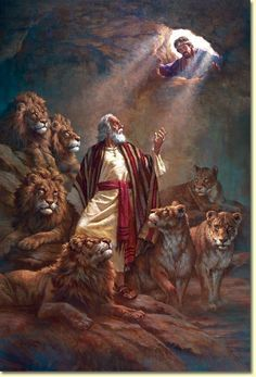 """God Delivers --""""So the king gave the order, and they brought Daniel and threw him into the lions' den. The king said to Daniel, """"May your God, whom you serve continually, rescue you!"""" Daniel 6:16 """"And when Daniel was lifted from the den, no wound was found on him, because he had trusted in his God."""" Daniel 6:23b"""