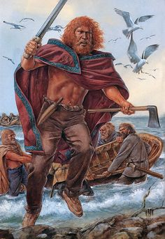 """Irish Raider, British coast, century AD"" It was Irish raiders that took away a young Patrick from his home along the coast of Britain to be a slave in Ireland, where he would later hear and find God. Irish Mythology, Irish Warrior, Celtic Warriors, Celtic Culture, Early Middle Ages, Norse Vikings, Viking Age, Dark Ages, Historical Pictures"