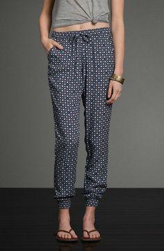 Olivia Pattern Drapey Pants