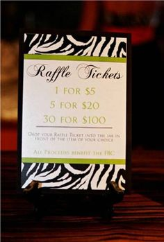 For the dinner/auction Raffle idea. Maybe even be the reward - a bowl full of raffle tickets. This can be the first raffle of the day. Raffle Baskets, Gift Baskets, Fundraiser Baskets, Raffle Prizes, Raffle Ideas, Prize Ideas, Door Prizes, Game Ideas, Auction Games