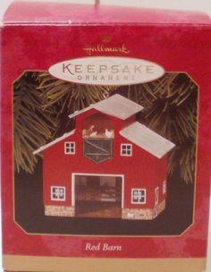 Hallmark Keepsake Ornament Red Barn Pressed Tin 1999 Town And Country Series Hallmark Christmas Ornaments, Hallmark Keepsake Ornaments, Pressed Tin, Tin House, Town And Country, Barn, Shapes, Cool Stuff, Holiday Decor